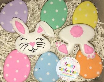 Easter Egg Easter Bunny Cookies - 1 Dozen (15 Cookies)