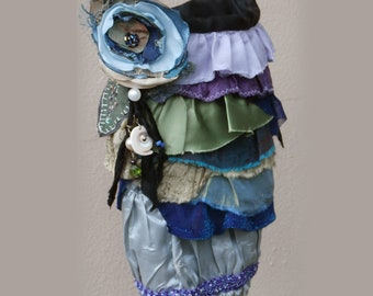 Peacock Ruffles Bag, Shoulder or Cross Body Boho Purse
