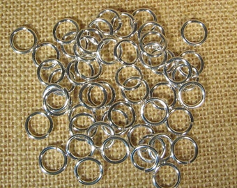 12mm Silver Plated Jump Rings - Choose Your Quantity