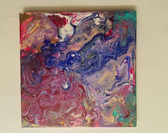 Chaos is beauty.. sometimes. 12x12 wood panel painting