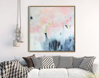 Abstract Art Print , Abstract Giclee Print , Pink And Grey, Modern Art Abstract , Minimalist Painting , Abstract Expressionist Art