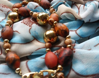 70s Vintage Polymer Beaded Necklace