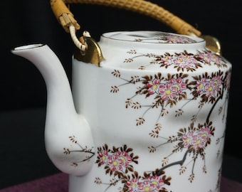 Tilso Hand Painted Japanese Teapot, Cherry Blossoms