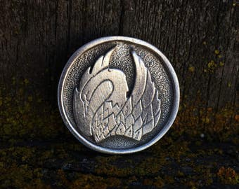 Swan Pewter Pin Brooch | Swan Pin | Swan Jewelry | Handcrafted Jewelry | by Treasure Cast Pewter