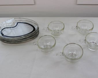 Mid Century Modern, vintage, tea, dessert set cups and plates