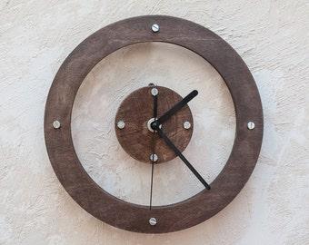 Large wall clock,Unique wall clock, Modern wall clock,Industrial wall clock,Wall clock,Wooden wall clock,Rustic wall clock,Housewarming gift