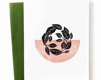 Rubber Tree - Blank Greeting Card