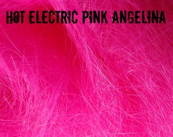 Hot Electric Pink Angelina Fiber 1/2 oz - add electric zing to your spinning!