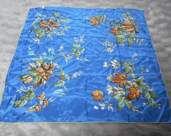 French vintage used head scarf with vibrant design