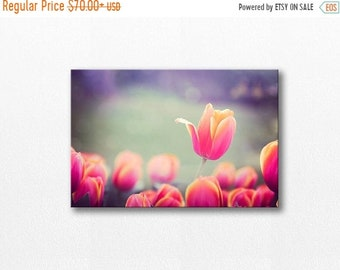 ON SALE tulips photography canvas print botanical decor 12x12 24x36 fine art photography flower canvas wrap floral canvas print lilac red pi
