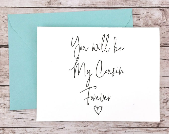 You Will Be My Cousin Forever Card (FPS0061)