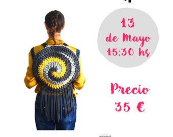Taller Mochila Espiral Crochet en Handmade Festival por Mamma DO IT YOURSELF, mammadiypatterns, casasol, dospunts, hmfbcn, cotton air