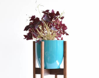 Mid Century Modern Plant Stand, Walnut Plant Stand, Plant Stand Indoor, Modern Plant Stand, Plant Stand for Pots, West Elm Stand