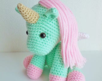 Plush Crochet Unicorn / Stuffed Crochet Unicorn / Amigurumi Unicorn Stuffed Animal