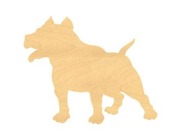Pitbull Sign Wood Cutouts - Large Sizes up to 32 Inches - for Projects or Other Use