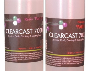 CLEARCAST 7000 - clear epoxy resin, cures shiny with a high gloss finish  - 64oz kit