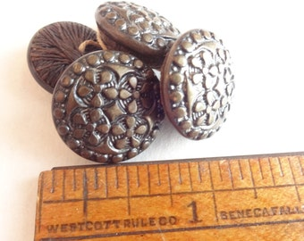 4 Victorian Thread Back Buttons