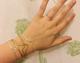Cuffs // Brass and Sterling Silver