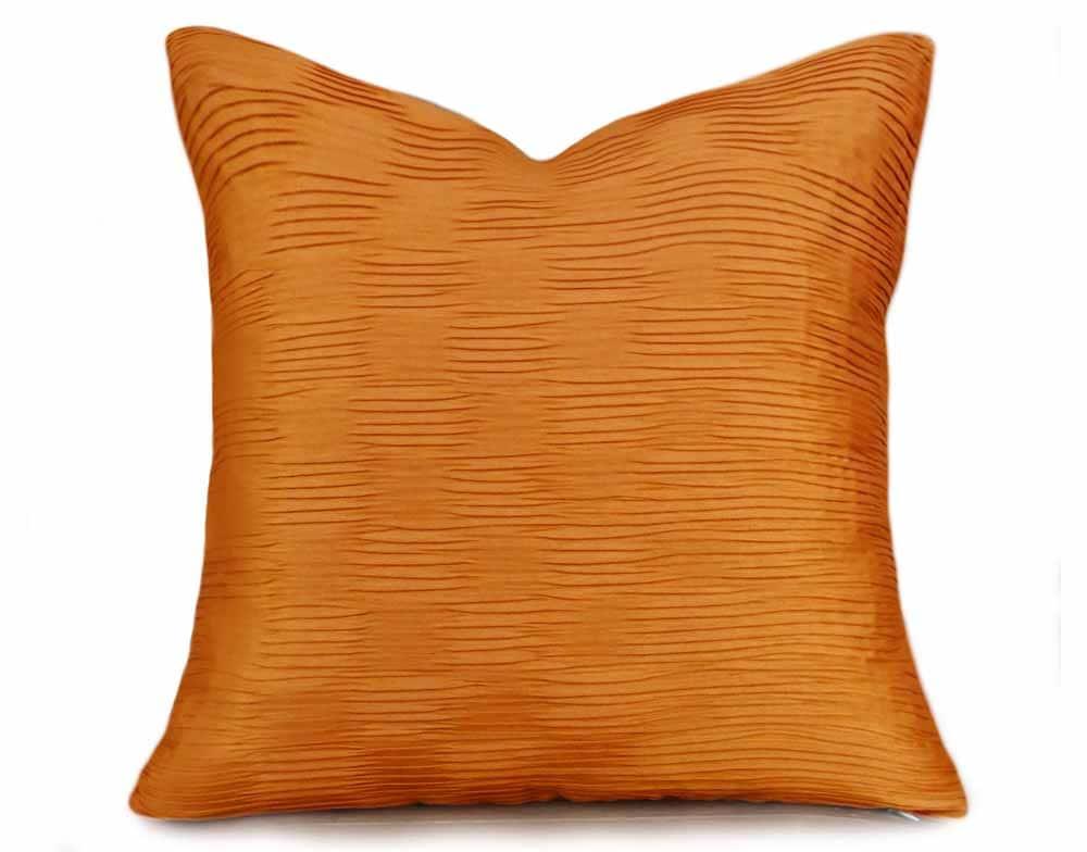 Orange Throw Pillow Solid Orange Pillow Covers Orange Couch