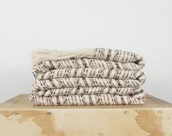 Boho Tribal tablecloth woven texture in cotton linen throw wrap