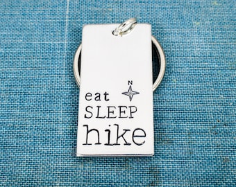 Eat Sleep Hike Keychain