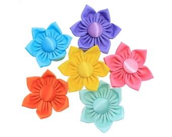Easter Dog Collar Flower, Martingale Collar Flower, Pastel Dog Collar Flower, Flower Dog Collar, Fabric Flower, Large Collar Flower