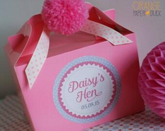 Personalised Wedding HEN PARTY Favour Box Activity Handmade Pom Pom