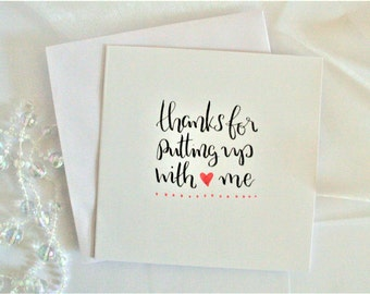 Calligraphy card etsy