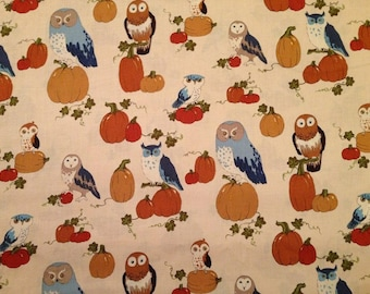 Alexander Henry October Owl Harvest / Thanksgiving Fabric by the yard and by the half yard