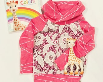 Cowlneck sweater 3-12m