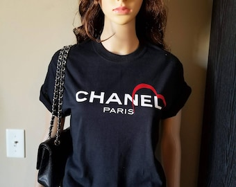 Wome black t-shirts with spcial made logo