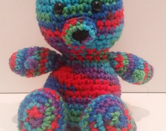 Rainbow Teddy Bear, Amigurumi Crochet Bear
