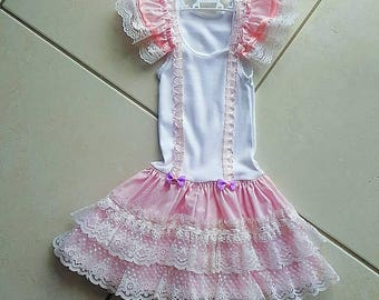 Locally handmade one off girls dress