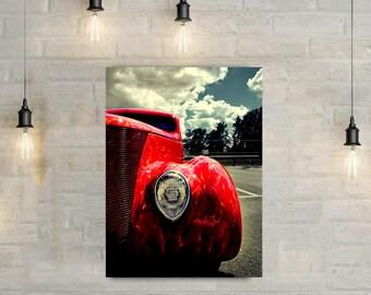 Vintage Car Canvas Art, wall art canvas, vintage car, car photography, car photo