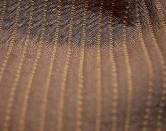 Brown Gold Stripe Fabric