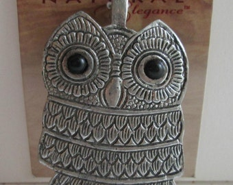 FAB Blue Moon Beads Super Large OWL Pendant