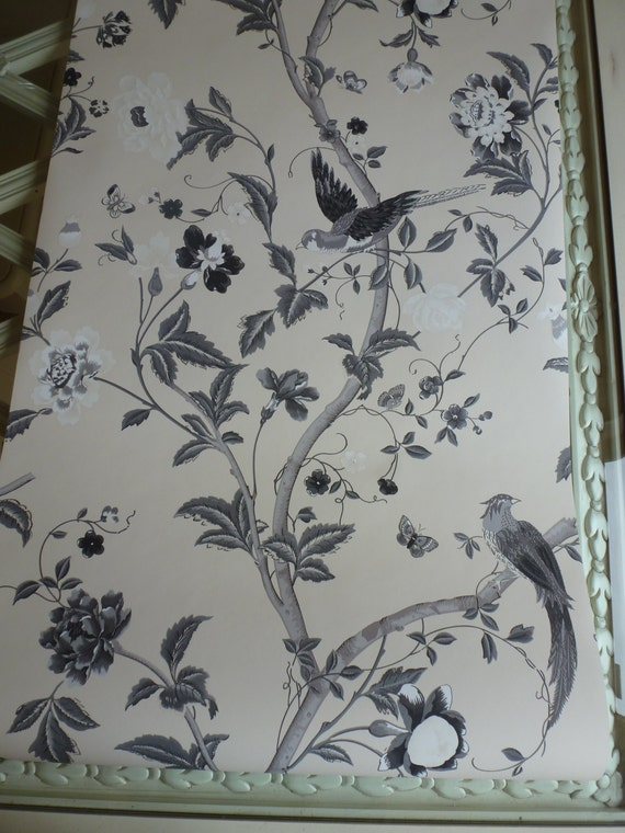 Items Similar To Laura Ashley Summer Palace Charcoal Wallpaper By The Yard On Etsy