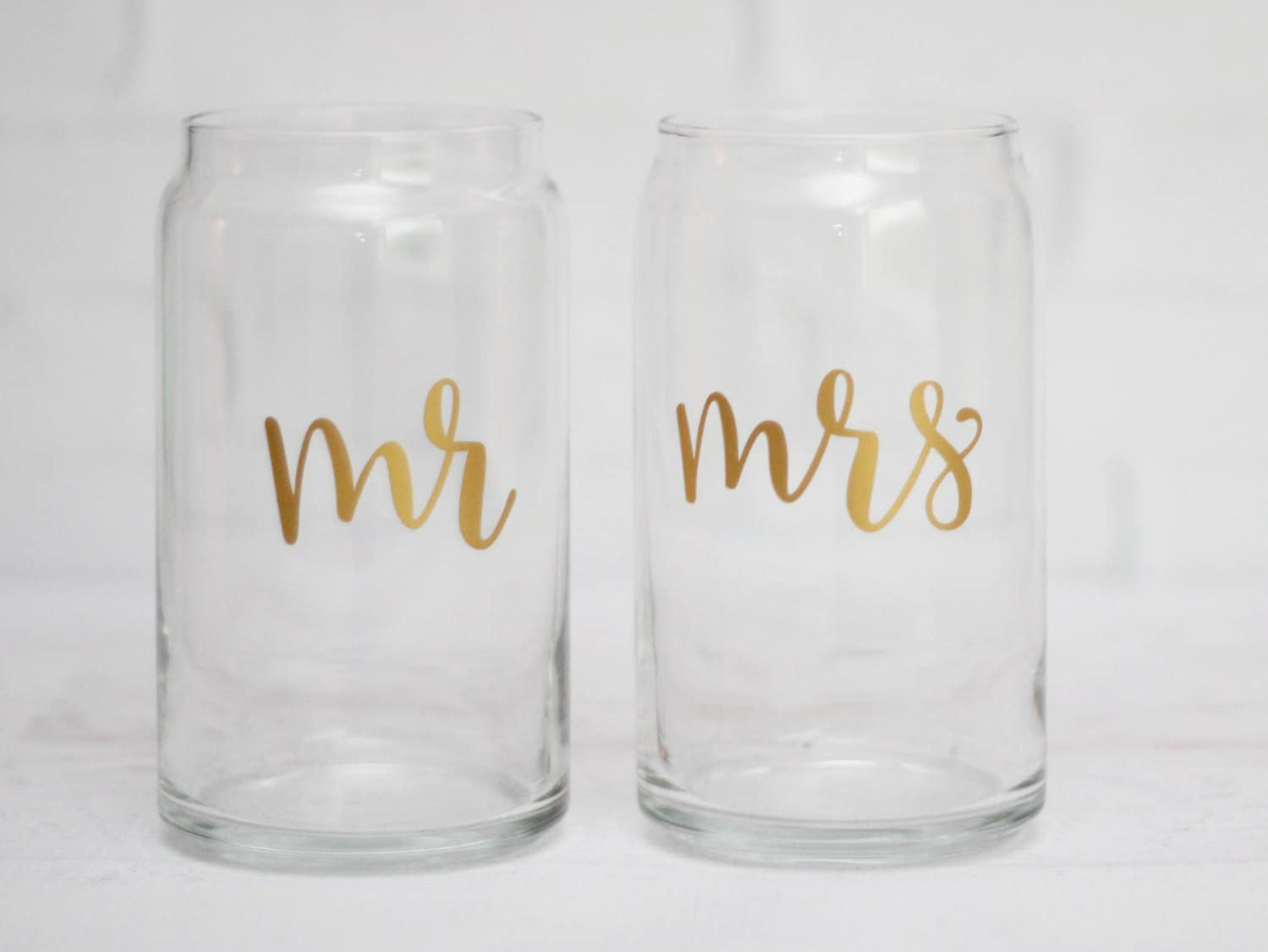 Beer can glasses mr and mrs beer glass wedding beer glass