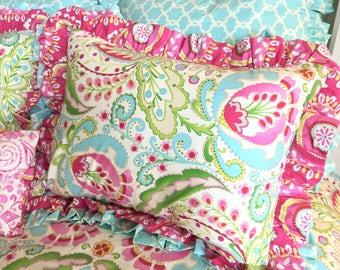 Standard Sham, Beautiful Standard Shams, Kumari Sham, Hot Pink Standard Sham, Sham for Girl Bedding, Twin Bedding, Queen Bedding