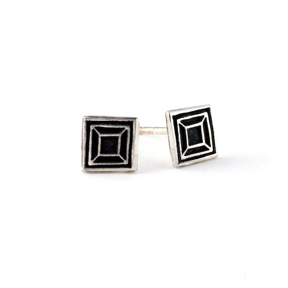 Square Earrings | Tiny Earrings | Stud Earrings