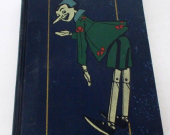 1924 Pinocchio C. Collodi Attilio Mussinio 3rd Edition Hidden Date Hardcover Book Rare