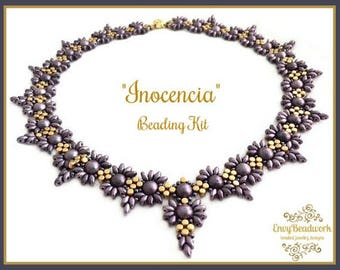 """Only Beads Kit : """"Inocencia"""" Necklace in English D.I.Y"""
