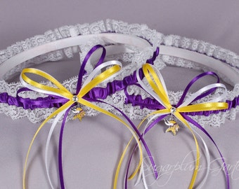 Minnesota Vikings Lace Wedding Garter Set