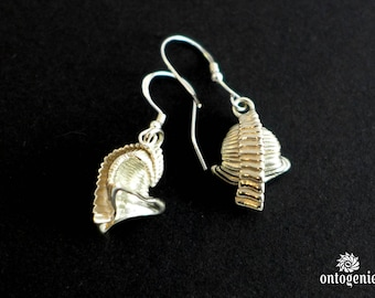 SALE - 25% OFF - Dailyatia Earrings - Small Shelly Fossil - Science Jewelry - Paleontology - Nannofossil - Fossil Dig - Microbiology