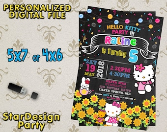 Hello Kitty Invitation,Hello Kitty Birthday,Hello Kitty Party,Hello Kitty Printable,Hello Kitty Birthday Invitation,Hello Kitty-SL194