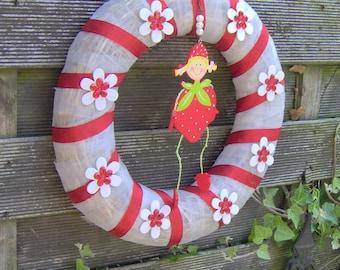 "Wreath: ""Strawberry Girl"""