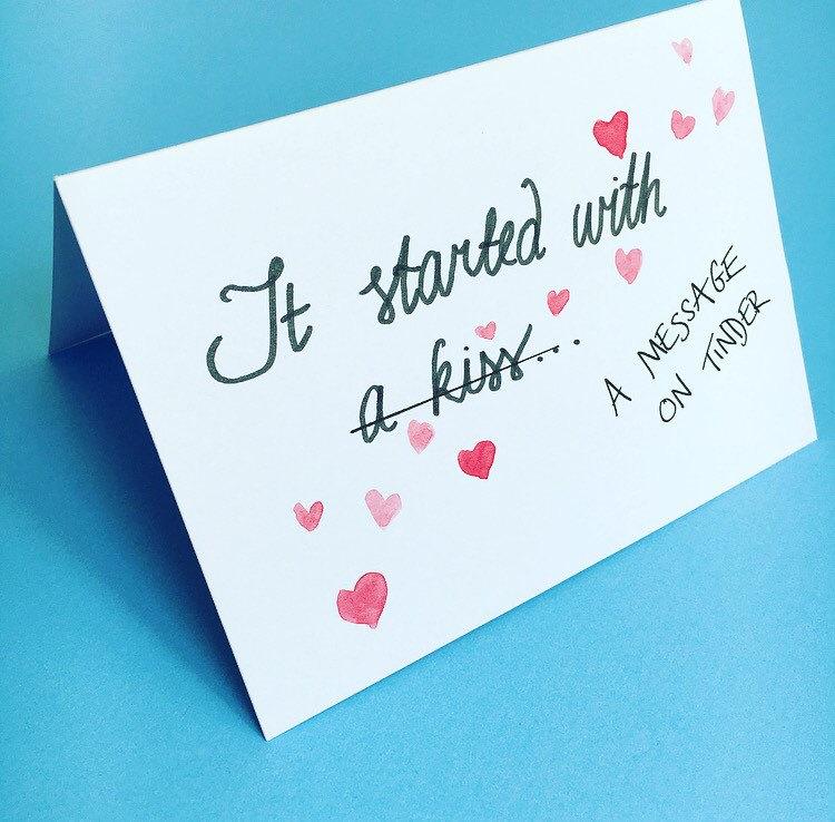 tinder card anniversary valentine's day pof online, Ideas