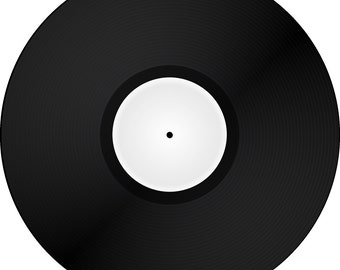 "Custom Vinyl Record One Sided 12"" Black"