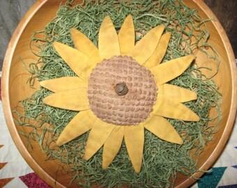 EPATTERN -- Primitive Summer Sunflower Tucks Flower Ornies Bowl Fillers