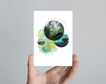 Evergreen Postcard Print Art